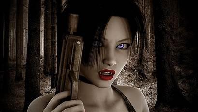 Wallpapers Gun Desktop Guns Vampire Dark Babe