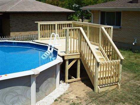 Above Ground Pool Steps Wood by Do It Yourself Above The Ground Pool Ladders Wood