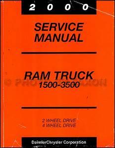 2000 Dodge Ram Truck Repair Shop Manual Original 1500