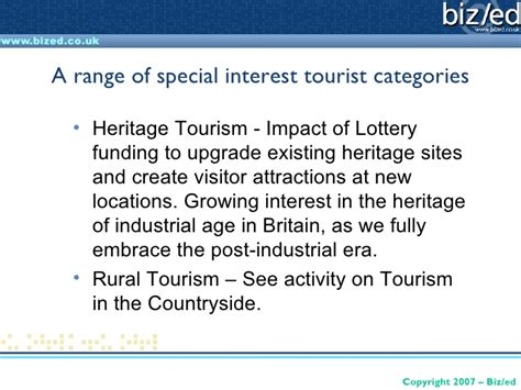 special interest tourism categories