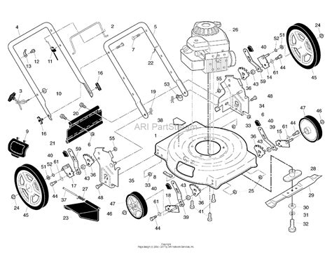 Murray Mower Deck Diagram by Murray M22500 96114002600 22 Quot Murray Walk Mower
