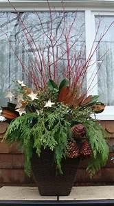 DIY Winter Urns whimsical birch stars