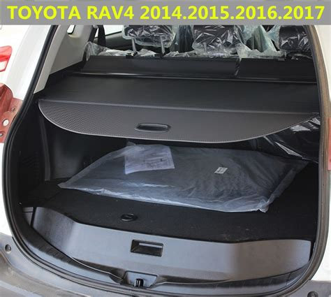 car rear trunk security shield cargo cover  toyota rav