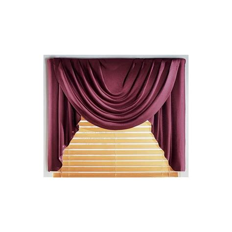 supreme antique satin solid valance curtain draperycom
