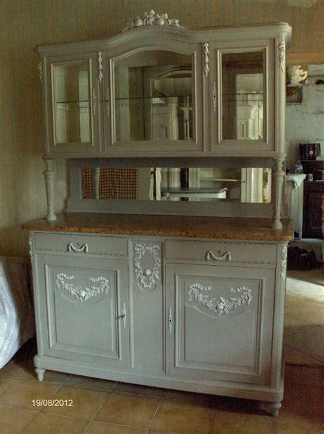 renover sa cuisine en chene buffet vaisselier patiné ancien style louis xvi louis