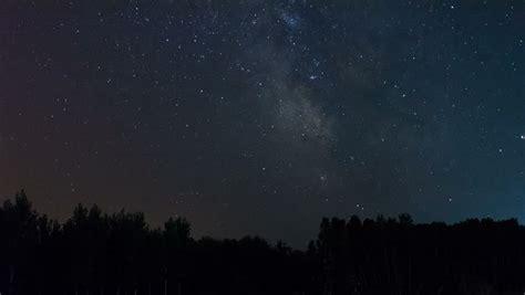 Night Sky Stars Time Lapse Milky Way Glow Above