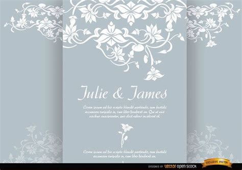 floral triptych brochure marriage invitation template