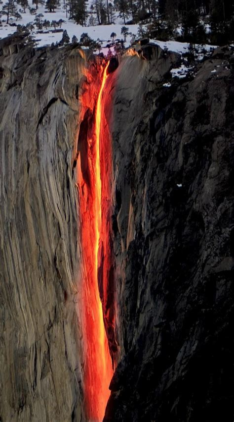 Horsetail Fall A Firefall In Yosemite National Park Usa