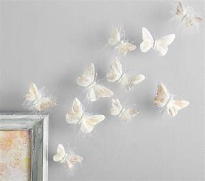 Rosegold feather butterflies pottery barn kids
