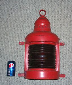 large old marine nautical lantern light perko 20 quot tall wall mount ebay