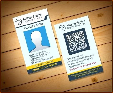 pvc id card template photoshop template  resume