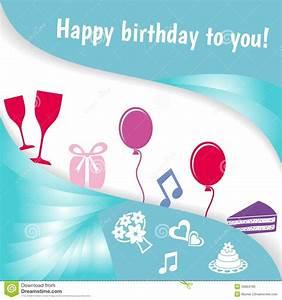 Happy Birthday Card Stock Photo - Image: 35804190