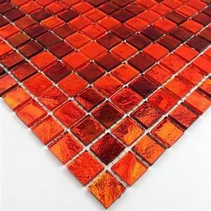 Salle De Bain Orange : gloss orange mosaique de verre carrelage mosaique ~ Preciouscoupons.com Idées de Décoration