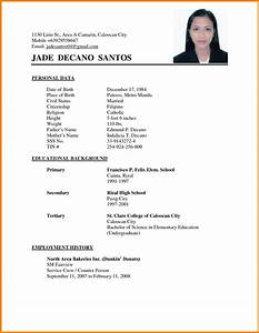 6 curriculum vitae format for college students mail clerked With curriculum vitae format