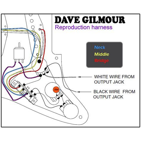 Fender Strat Wiring Harnes Diy by Dave Gilmour Deluxe Pre Wired Stratocaster Wiring Kit With