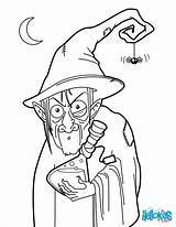 Witch Coloring Witches Pages Potion Halloween Colouring Wizards Wicked Printable Oz Hellokids Sheets Wizard Potions Cute Broom sketch template