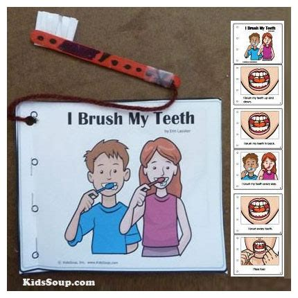 dental health and teeth preschool activities lessons and 958 | Brush teeth booklet FB
