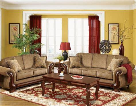 transitional living room everlast  light brown chenille