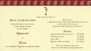 sample of wedding programme hindu printed samples