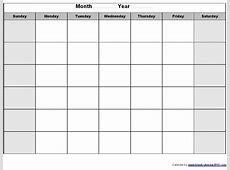 Blank Calendar Printouts Calendar Printable 2018