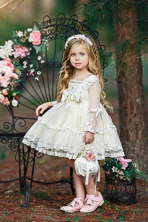 country flower girl dresses  sleeves lace short