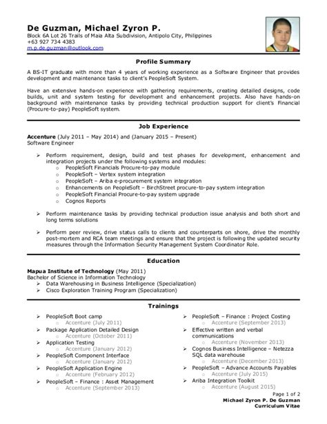 Typical Cv Template by Cv De Guzman Michael Zyron P