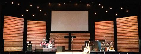 thin lines church stage design ideas