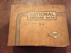 Sell Vintage Car National Service Data Manual Book 1961