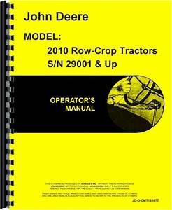 John Deere 2010 Tractor Operators Manual