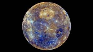 Mercury color map acquired by Messenger probe