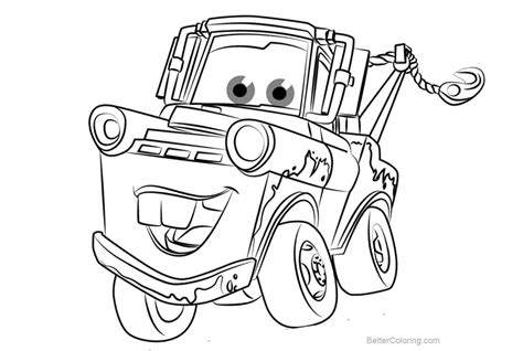 mater coloring pages tow mater from cars 3 coloring pages free printable