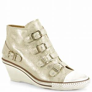 Lyst - Ash Genial - Leather Mid-Wedge Sneaker in White