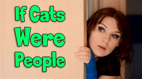 If Cats Were People  Erinrachel Youtube