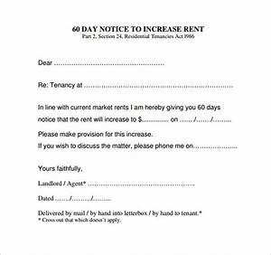 rent increase notice monthtomonth rental vehicle tenants With rent increase notice template