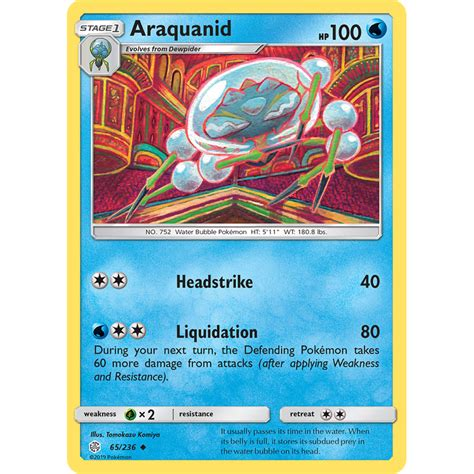The sun & moon—cosmic eclipse expansion. Verified Araquanid - Cosmic Eclipse Pokemon Cards   Whatnot