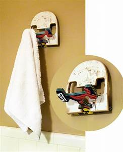 Funky wall hook made from recycled skateboards by