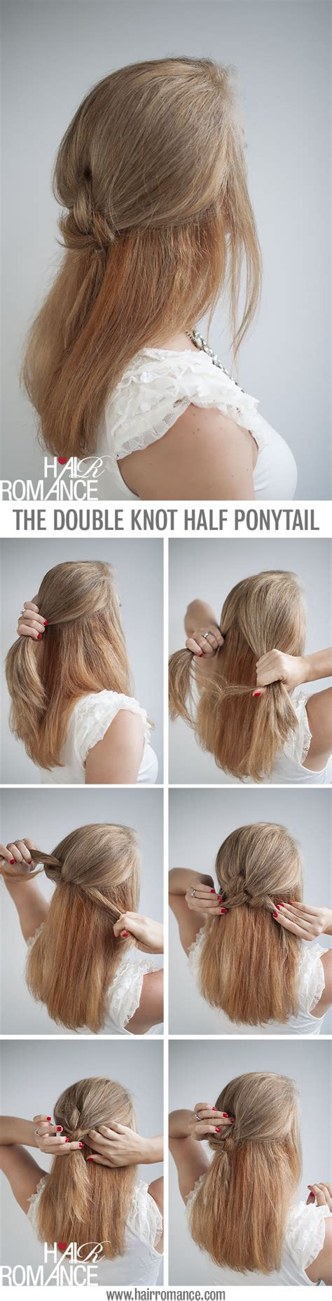 knot  average  ponytail hairstyle tutorial hair