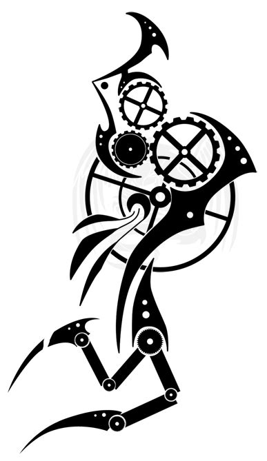 Steampunk Tribal OC Tat by Chobaryu on DeviantArt