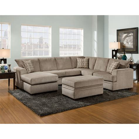 American Furniture Sofa by American Furniture 6800 Sectional Sofa With Left Side