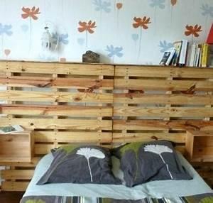Comment Faire Un Lit En Palette : tete de lit avec palette bois rial pas riel bramms travel comment fabriquer faire une en ~ Nature-et-papiers.com Idées de Décoration