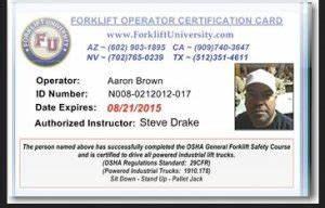 Forklift Training Certificate Template Osha Forklift Training On Line