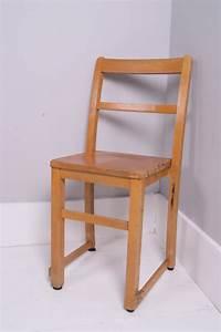 Children, U2019s, Vintage, Wooden, School, Stackable, Chairs