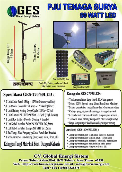 pju tenaga surya 50 watt pju solar cell led pju tenaga