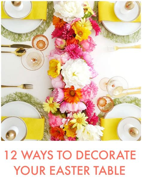great ideas  ways  decorate  easter table