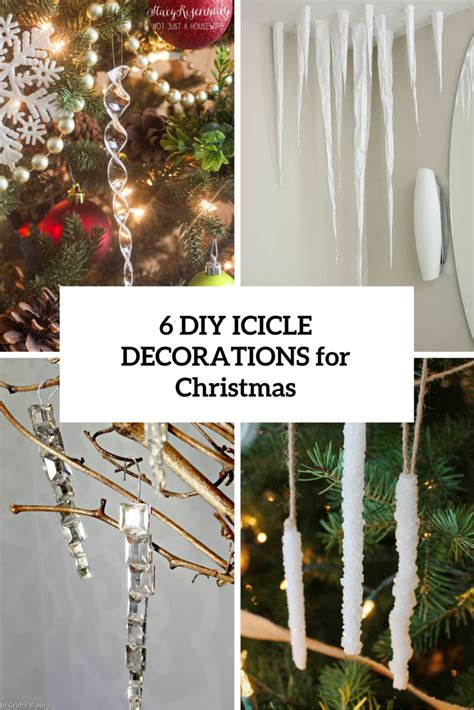 cool diy icicle decorations  christmas   year