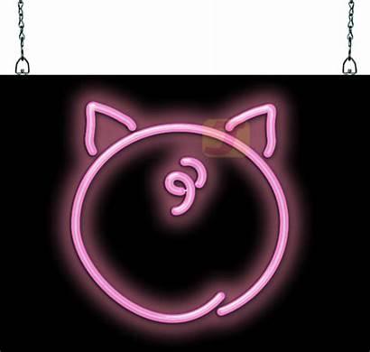 Butt Pig Sign Neon Flash Player Hs