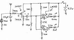 Simple Ghost Detector Circuit Diagram