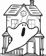 Haunted Coloring Halloween Pages Printable Drawing Cartoon Easy Print Ghost Simple Sheets Printables Getdrawings Scary Colour Ghosts sketch template