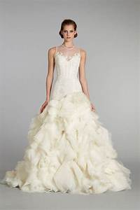 Favorite illusion neckline wedding gowns of 2013 onewed for Dress for fall wedding