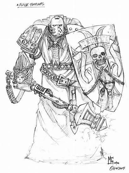 Warhammer Templars 40k Concept Templar Artworks Mg